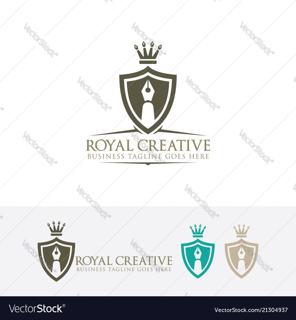 Royal creative logo design