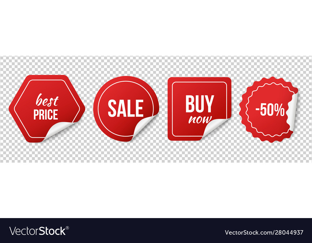 Sale tags red sale stickers christmas discount