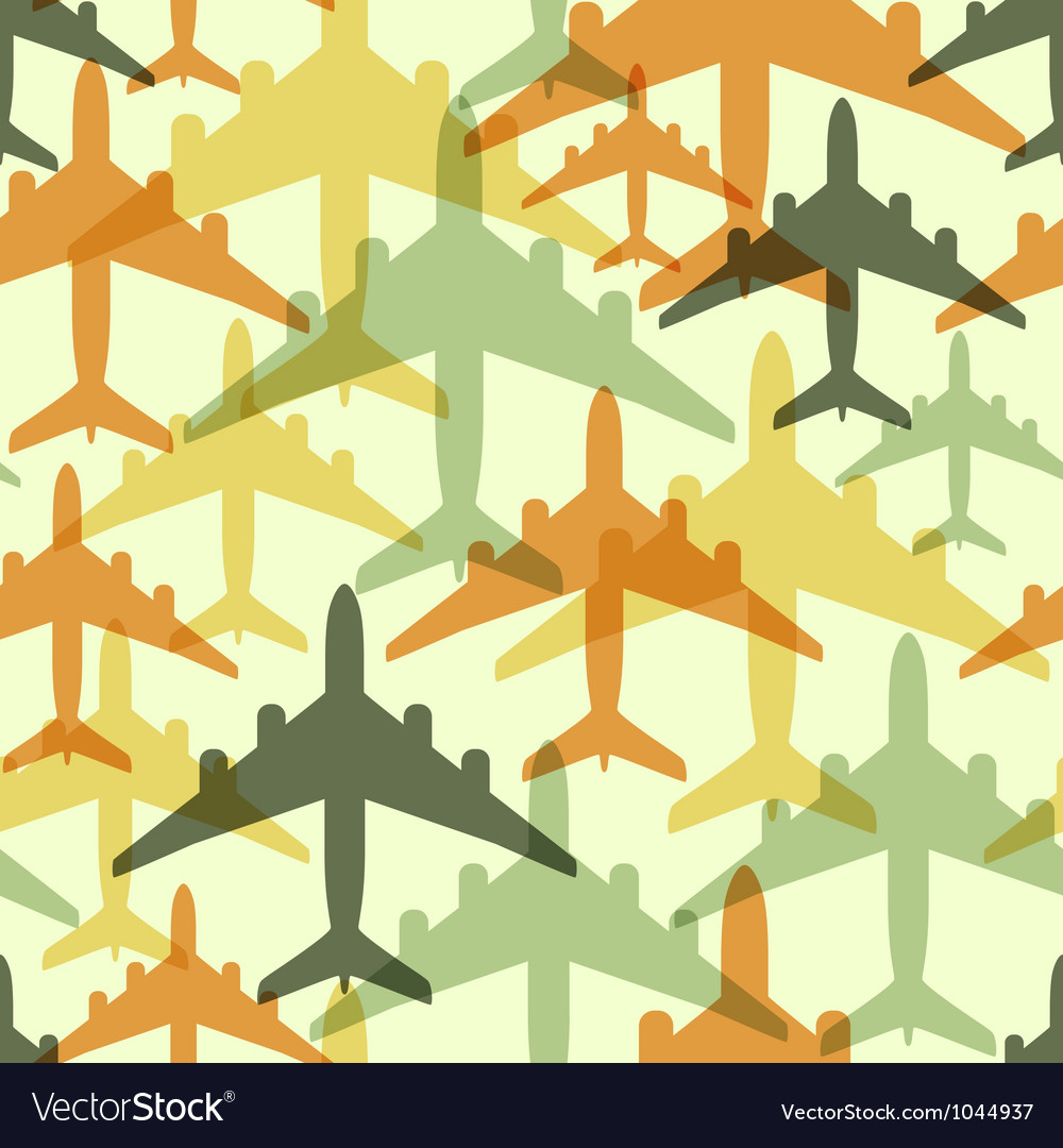 Seamless background pattern with airplanes