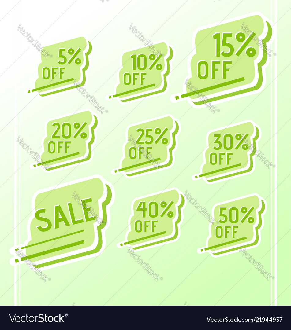 Set of colorful abstract sale stickers tags