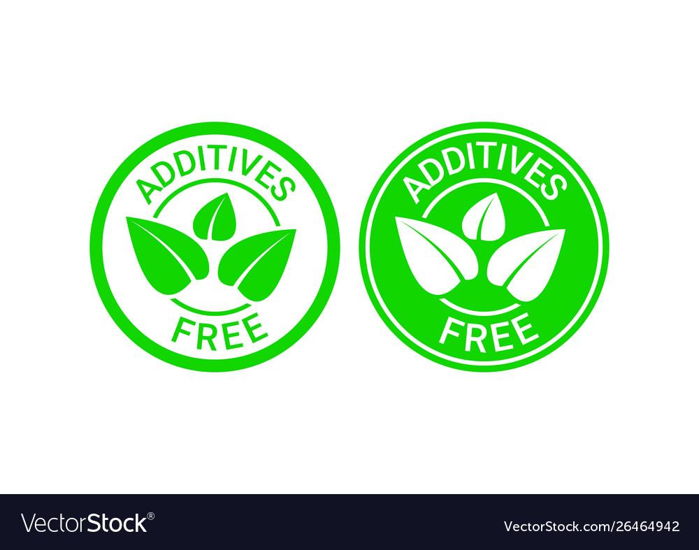Additives free sign or stamp symbol