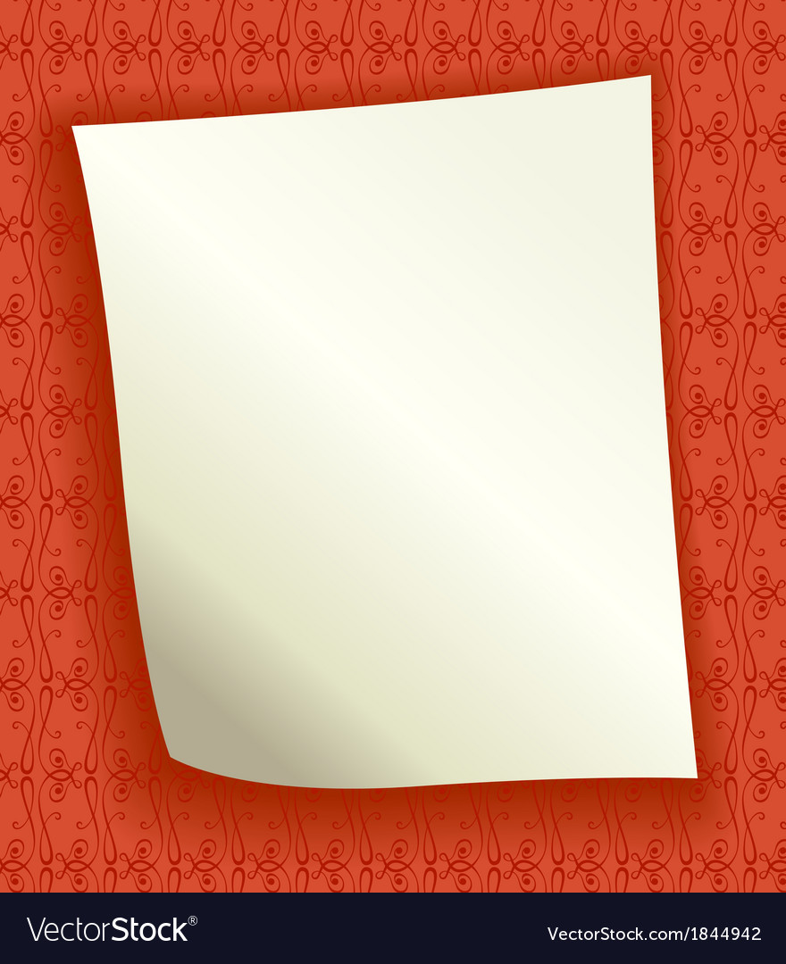 Decorative background with blank page vector image