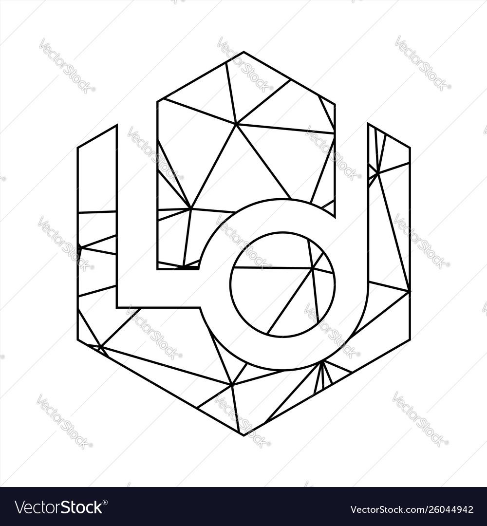 Ld geometric triangle block chain font