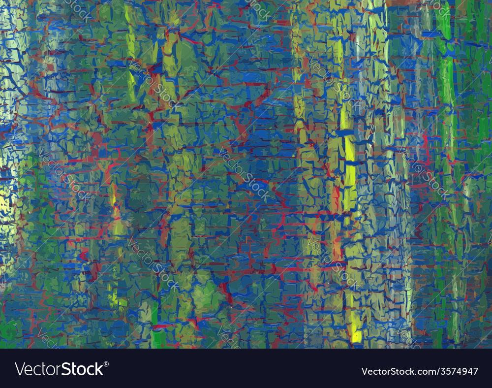 Acrylic craquelure background vector image