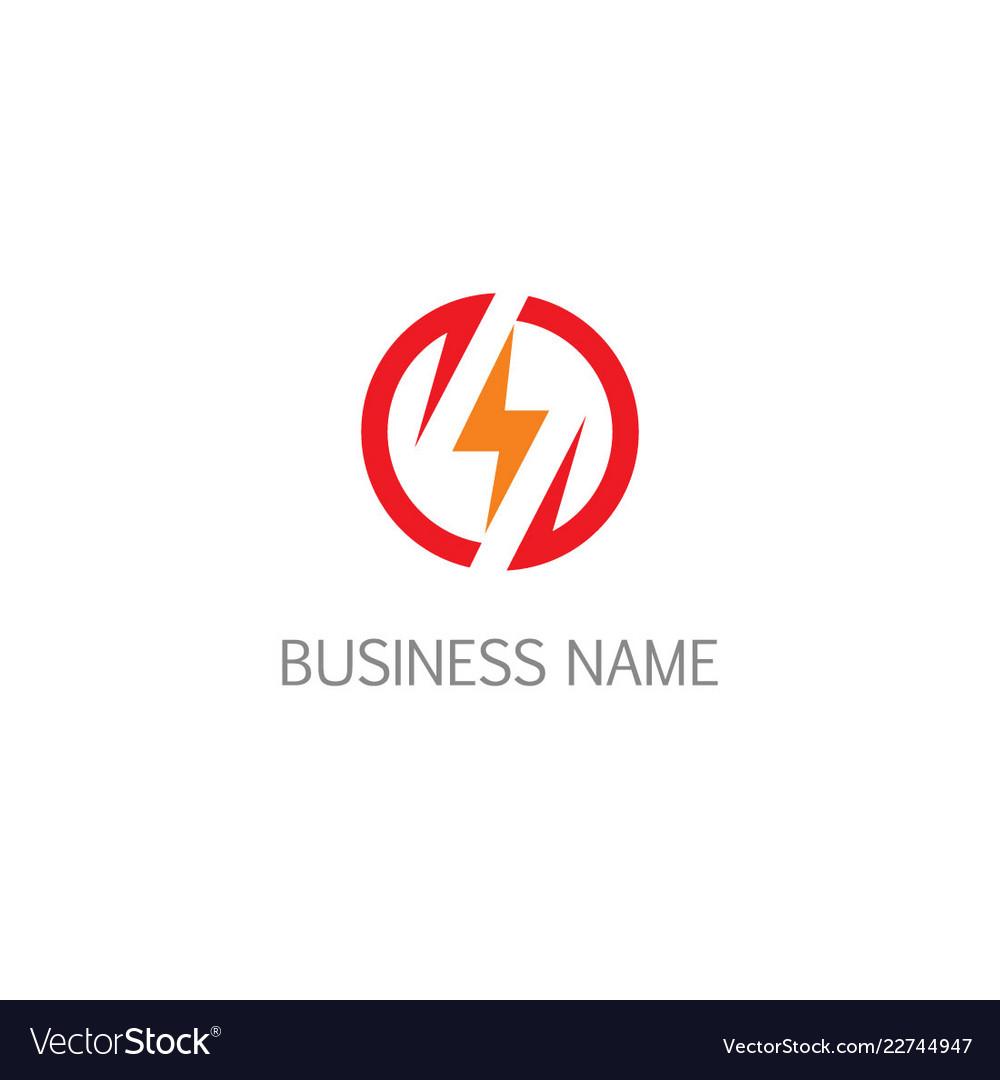 bolt thunder electric logo royalty free vector image vectorstock