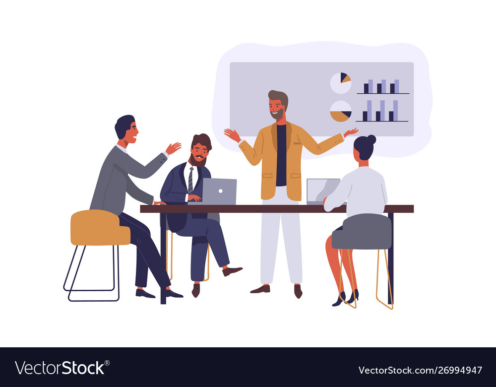 Business conference flat boss