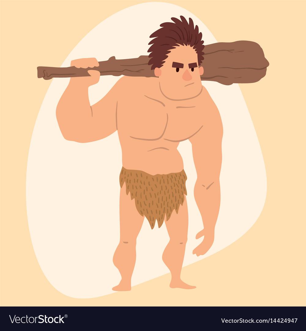 Caveman primitive stone age cartoon man