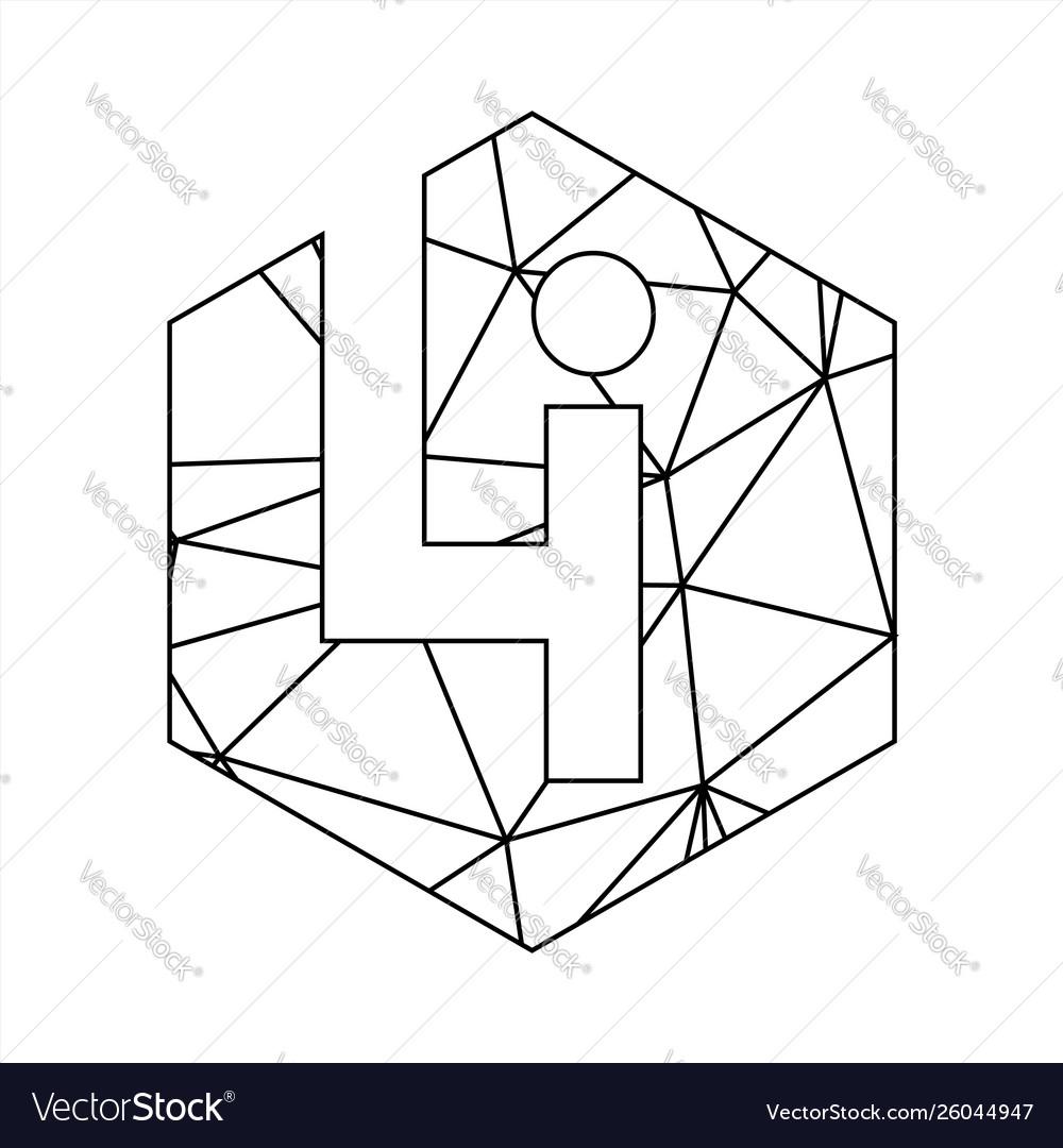 Li geometric triangle block chain font