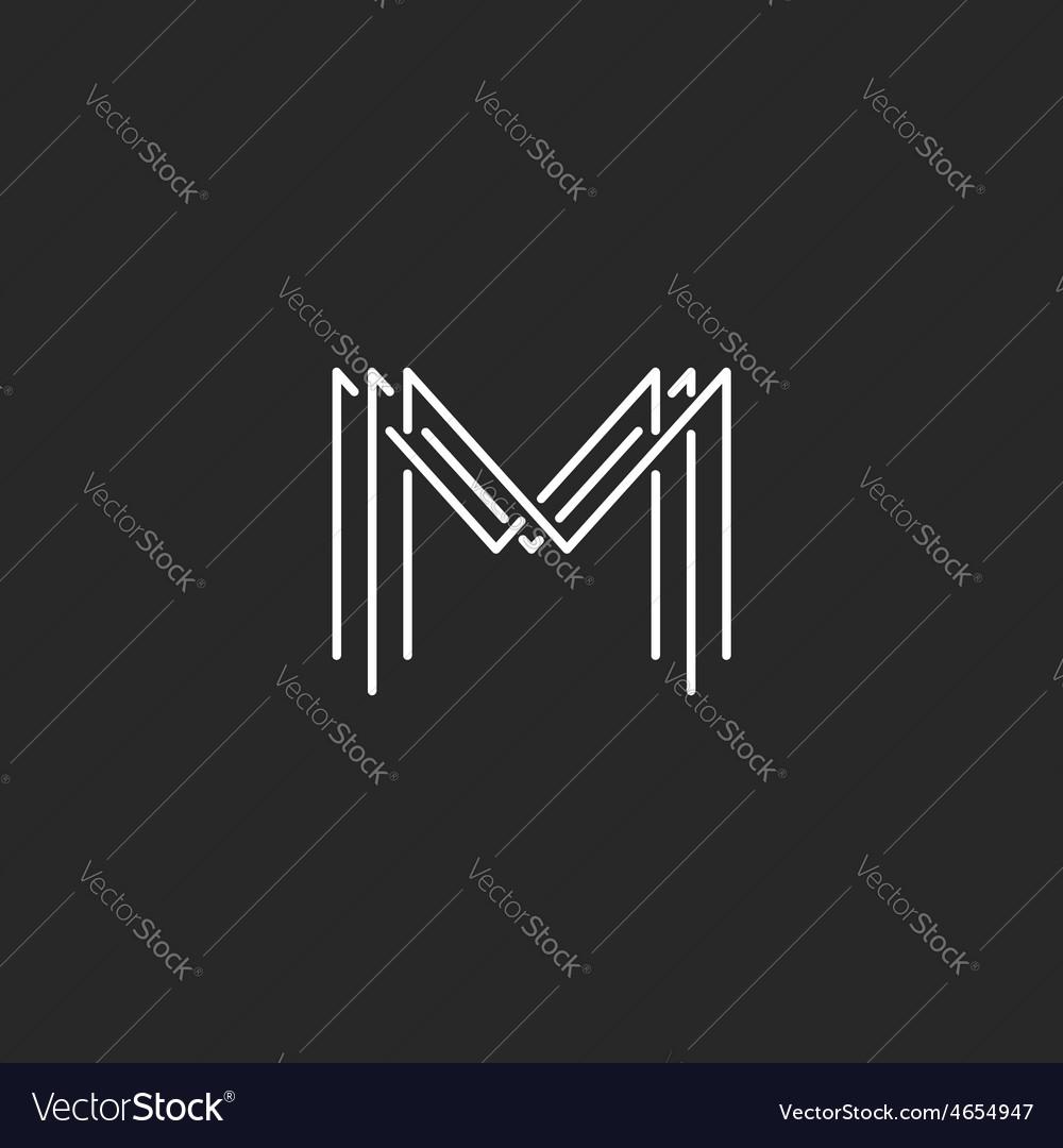 Monogram logo lettering letter M design business