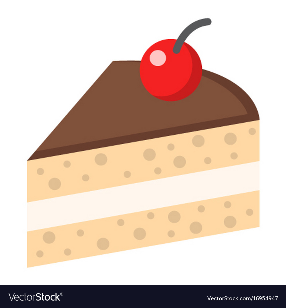 Piece of cake flat icon food and drink
