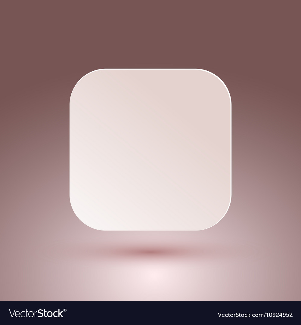 Blank square button