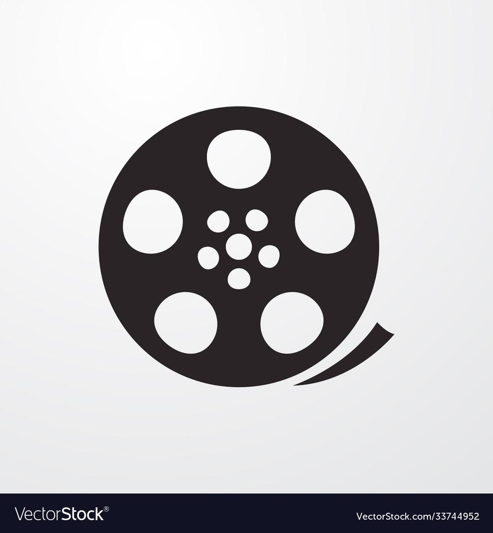 Film reel sign icon reel symbol flat icon