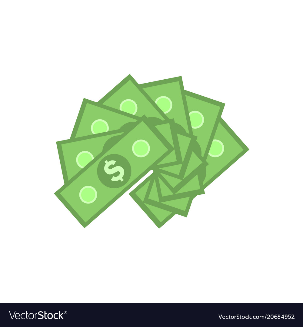 Green paper banknotes of american dollars in fan