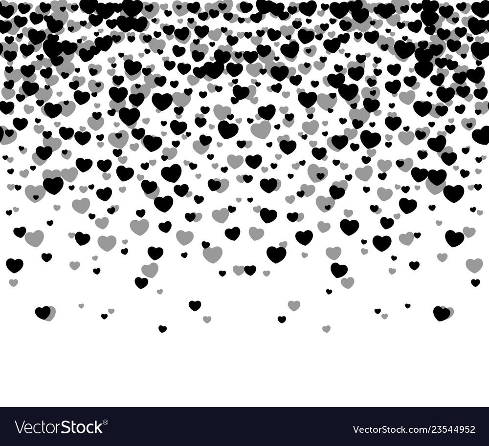 Hearts confetti on white background