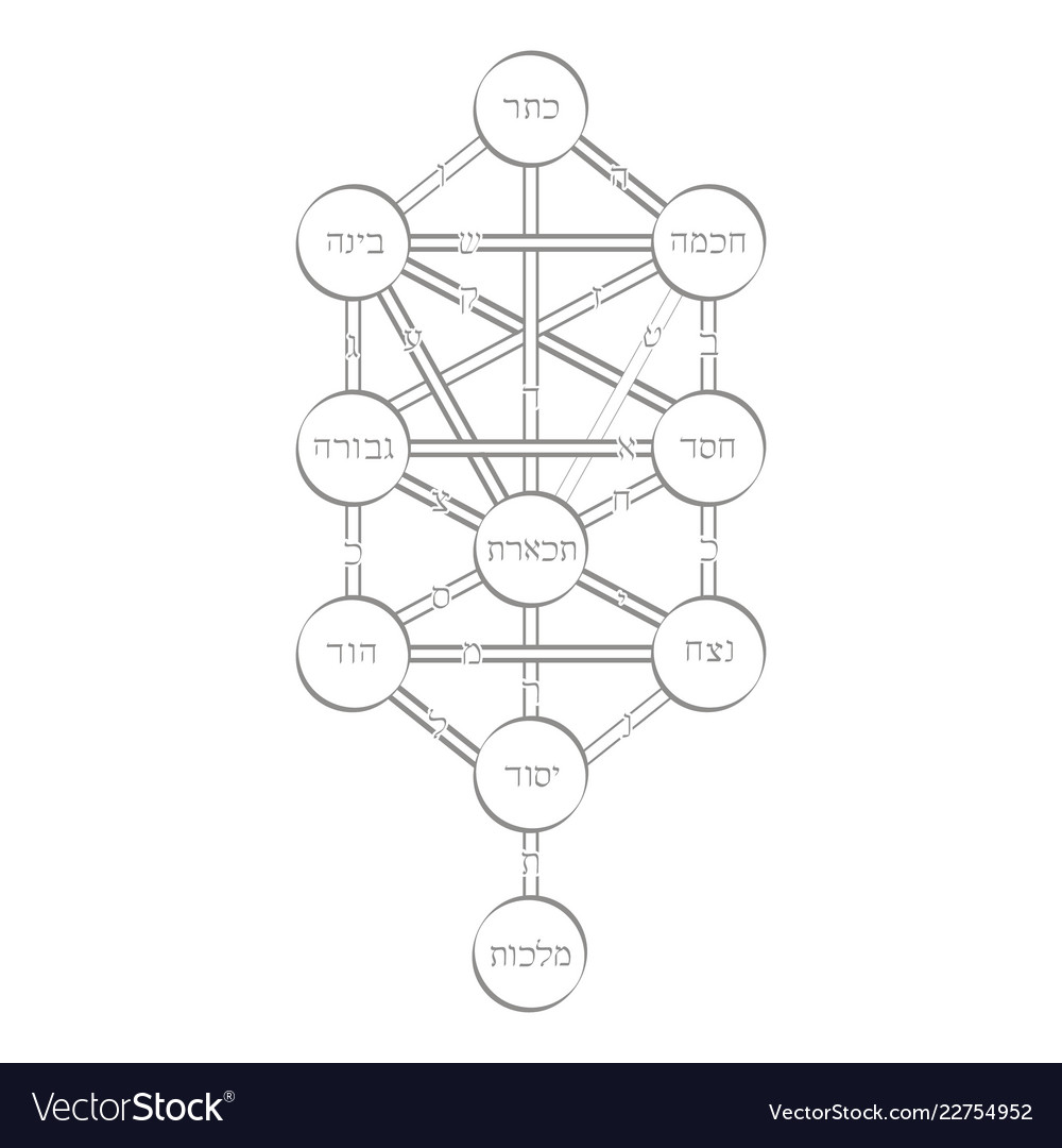 Icon With Tree Life Kabbalah Symbol Royalty Free Vector The tree of life, or etz hachayim (? vectorstock