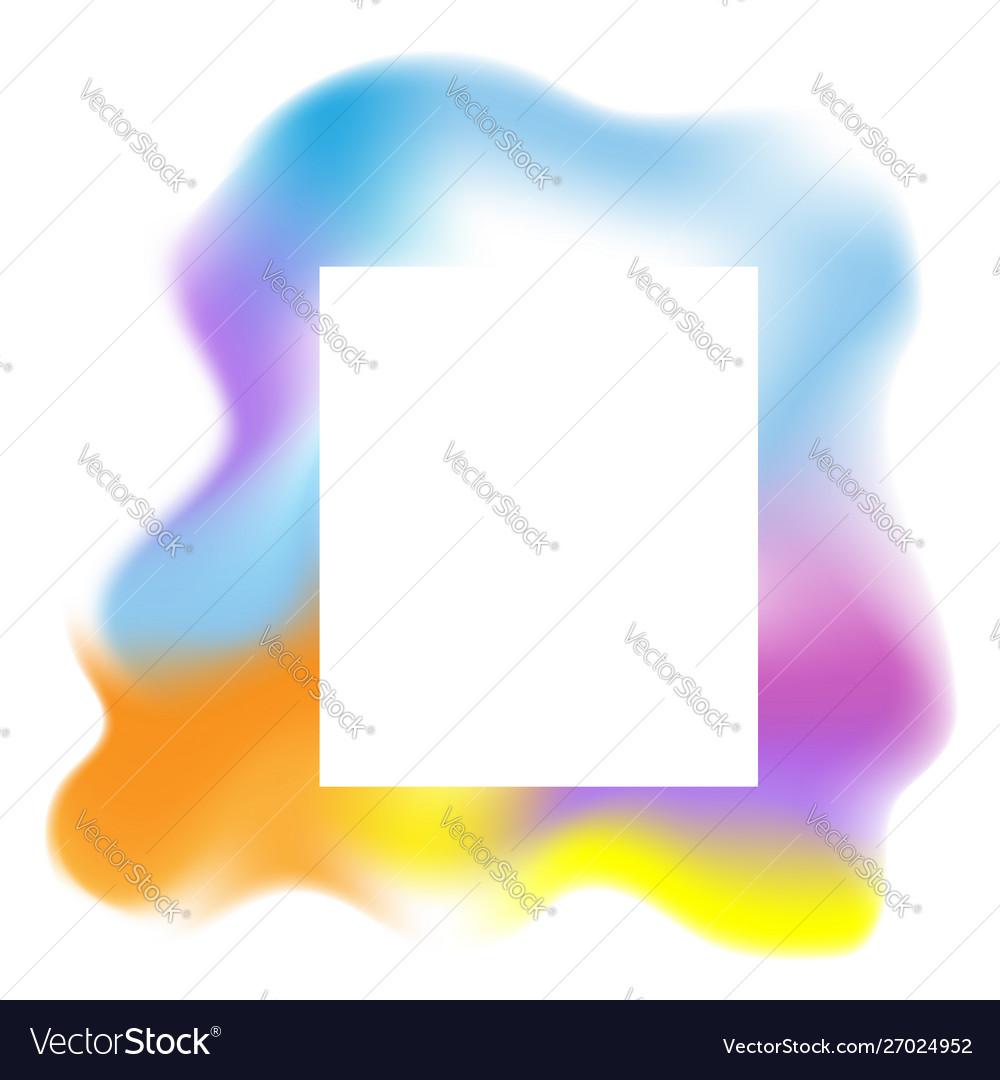 Multicolored blob fluid background