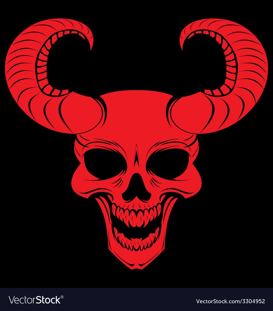 Red Demons Head vector image