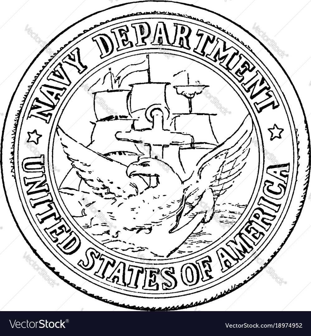 Seal navy department united
