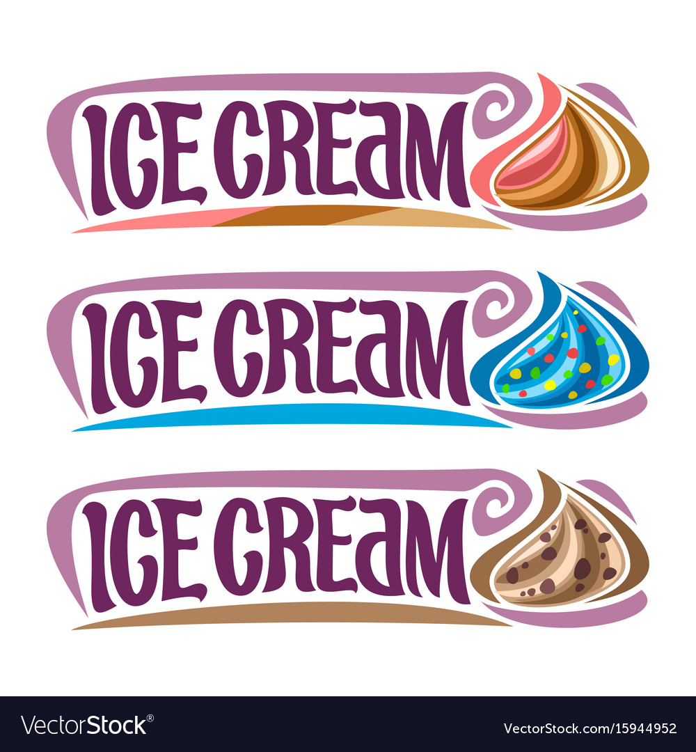 Set labels for ice cream