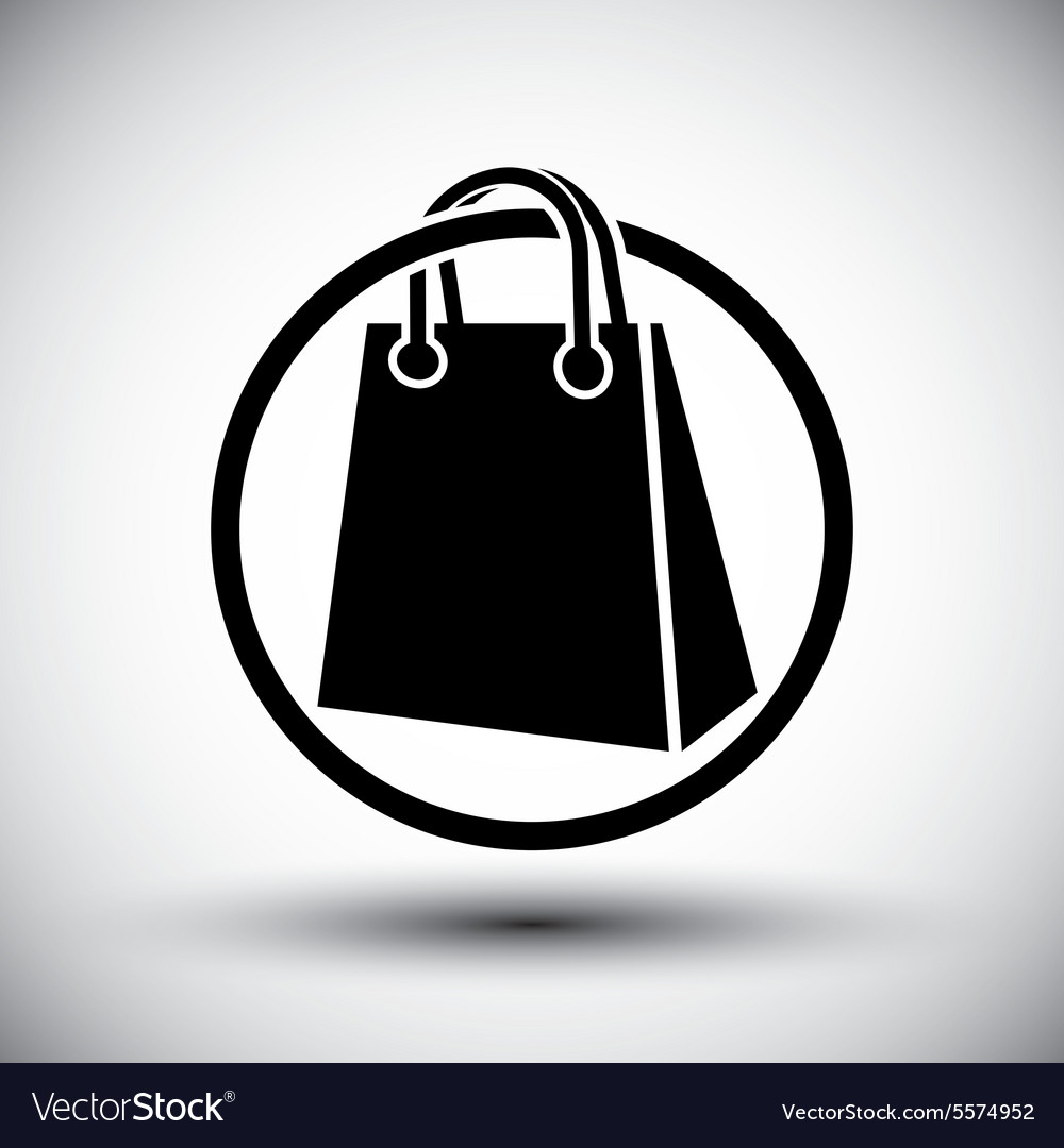 Shopping bag simple single color icon