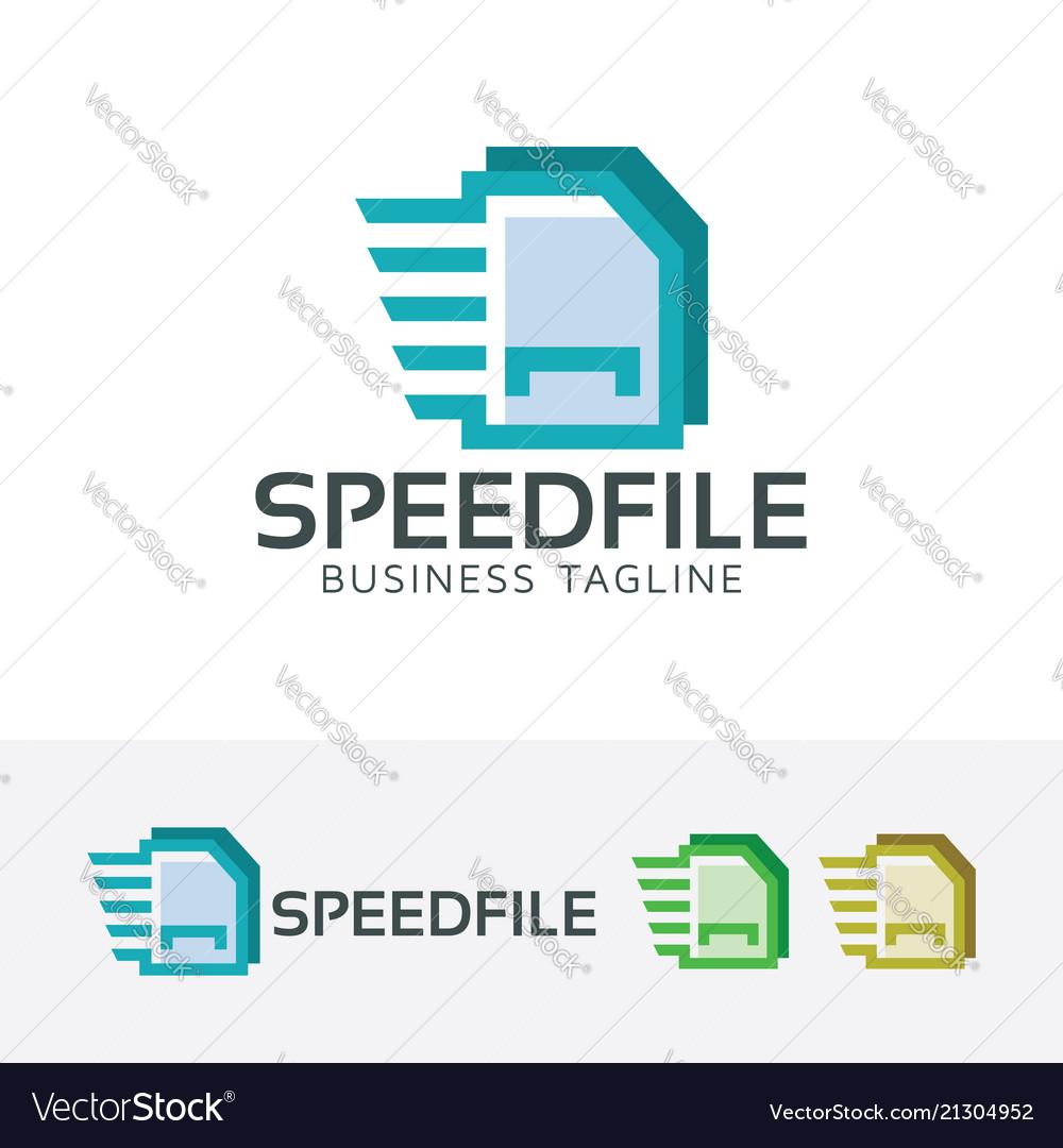 Speed file logo design