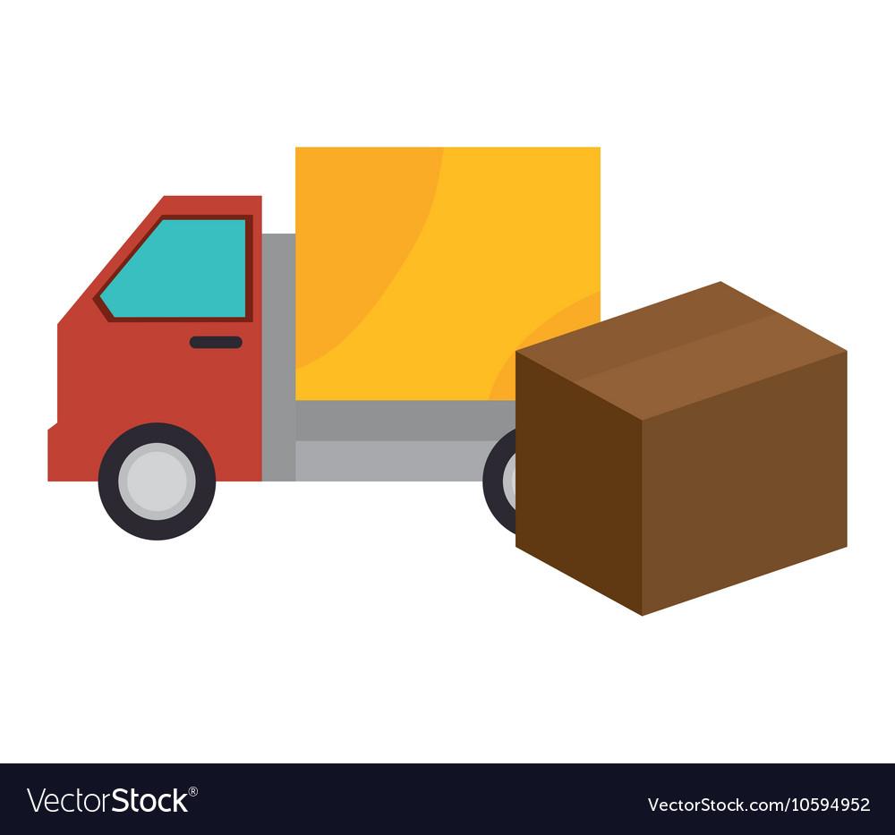Truck box carton shipping cargo design