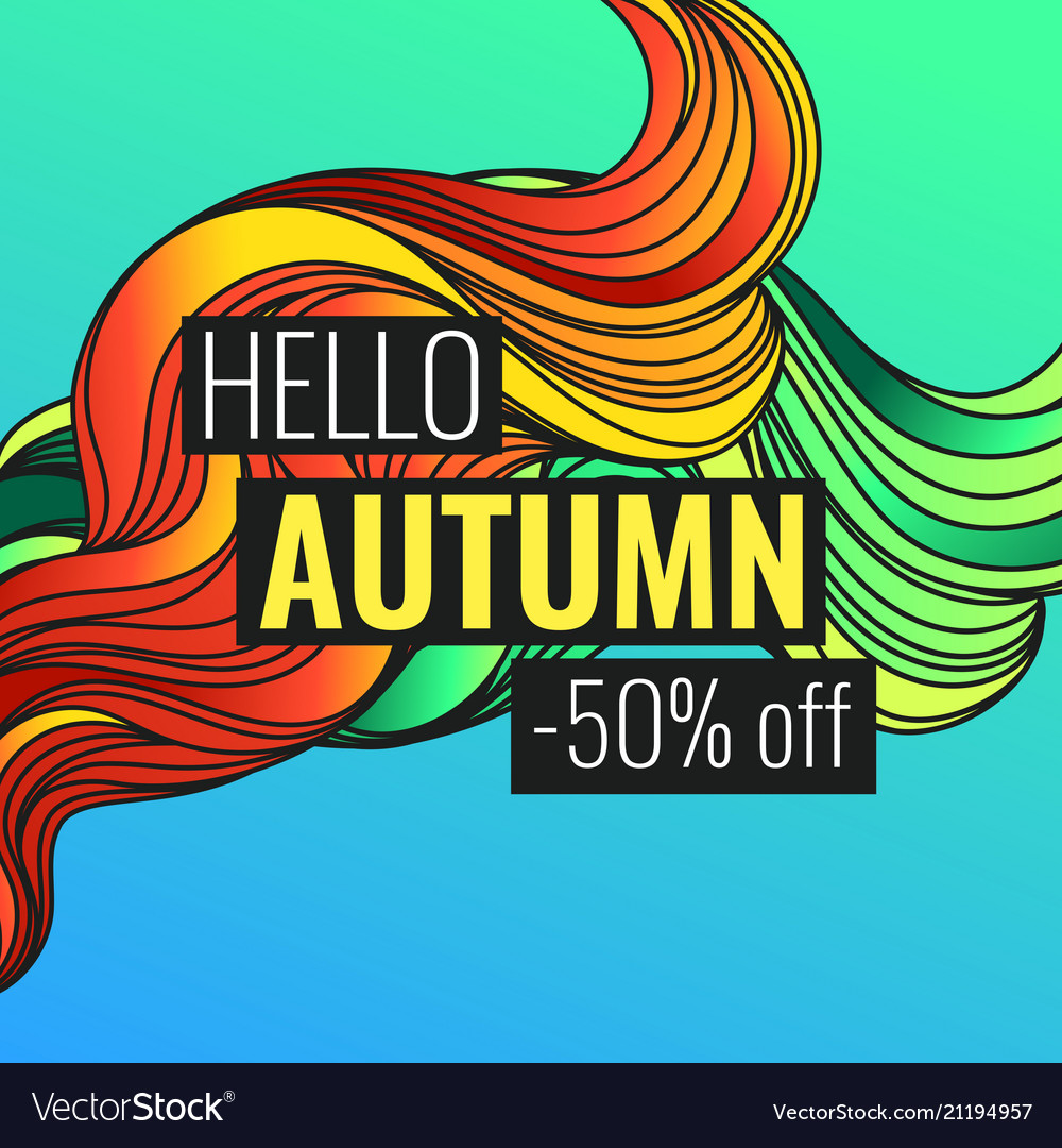 Autumn discounts background with leaves