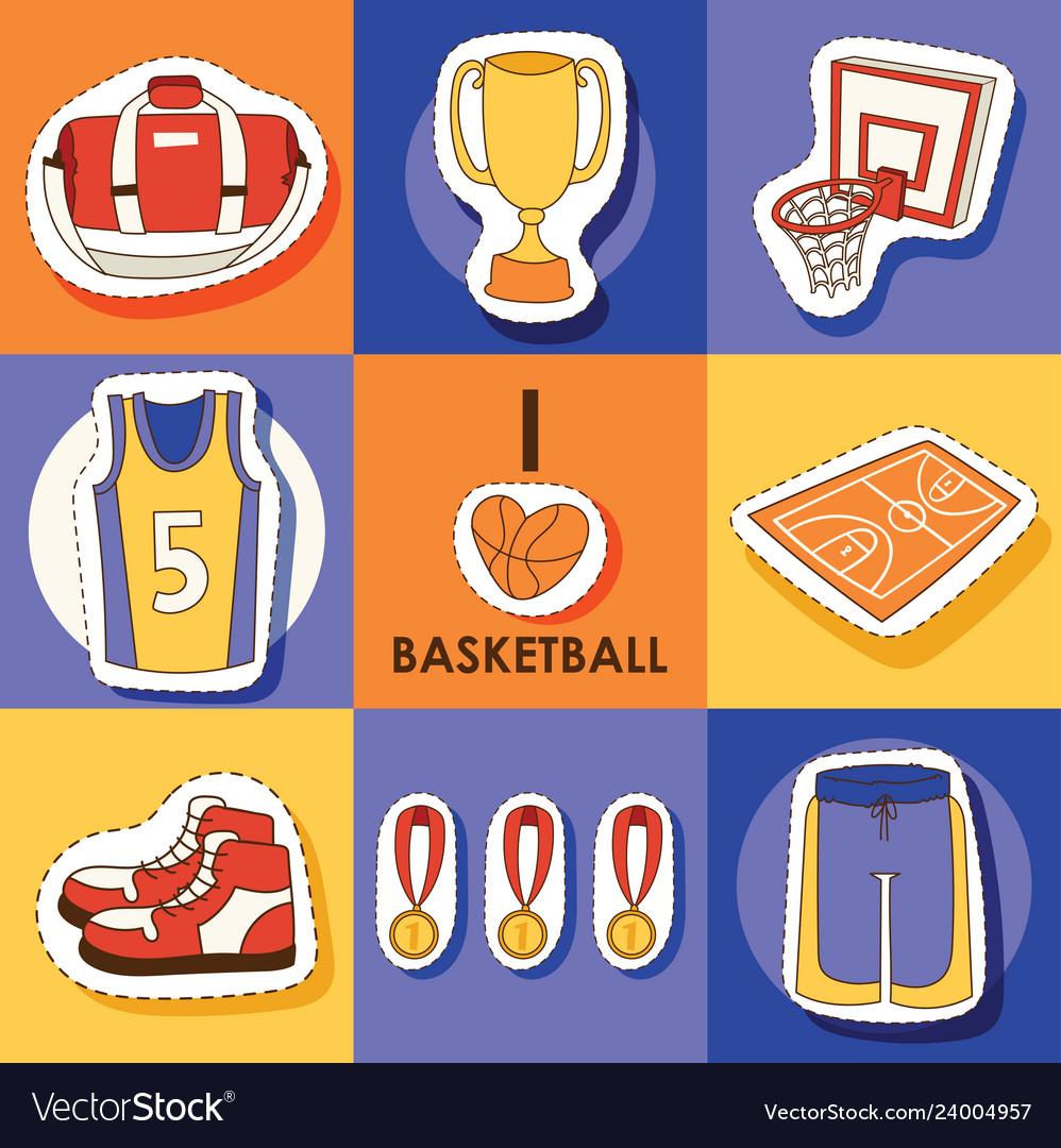 Basketball sport sticker sportswear medal