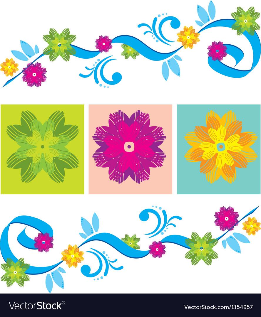 Color Floral ornament