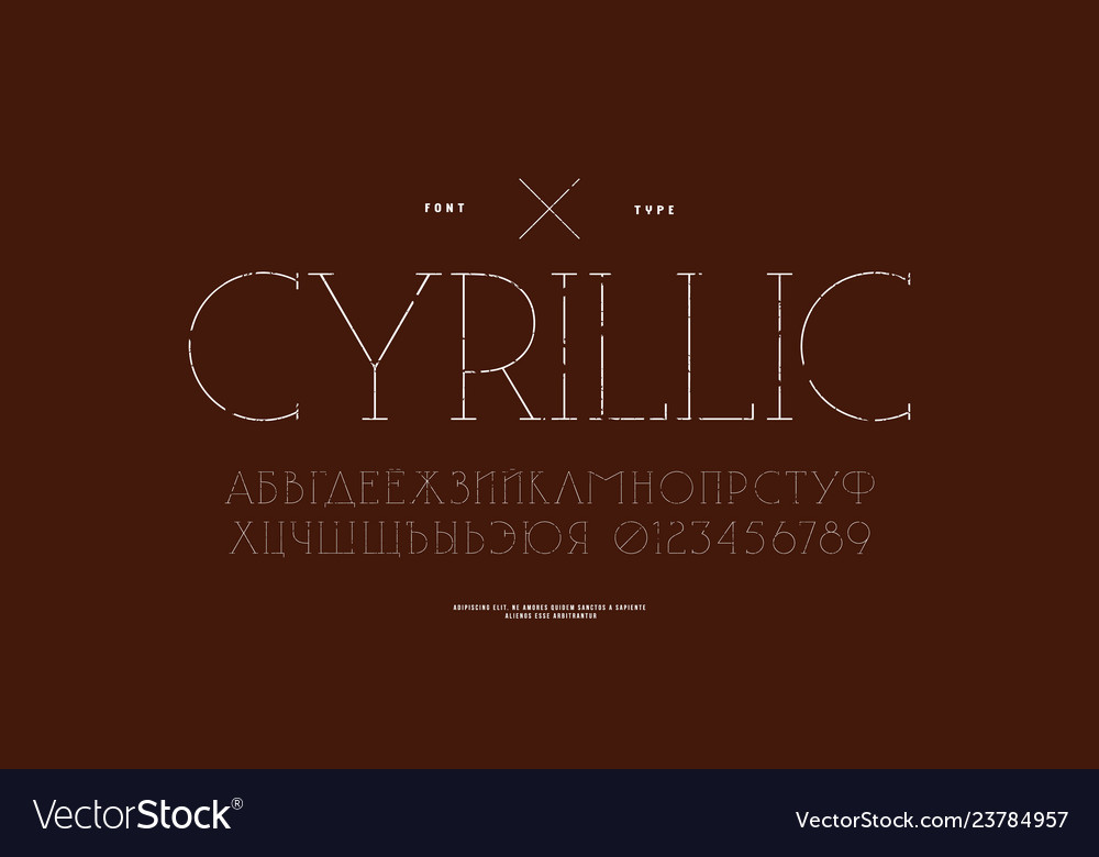 Cyrillic serif font in classic style