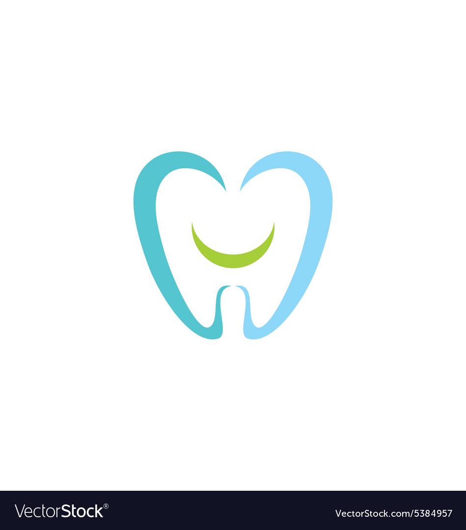 Dentist Teeth Smile Logo Royalty Free Vector Image