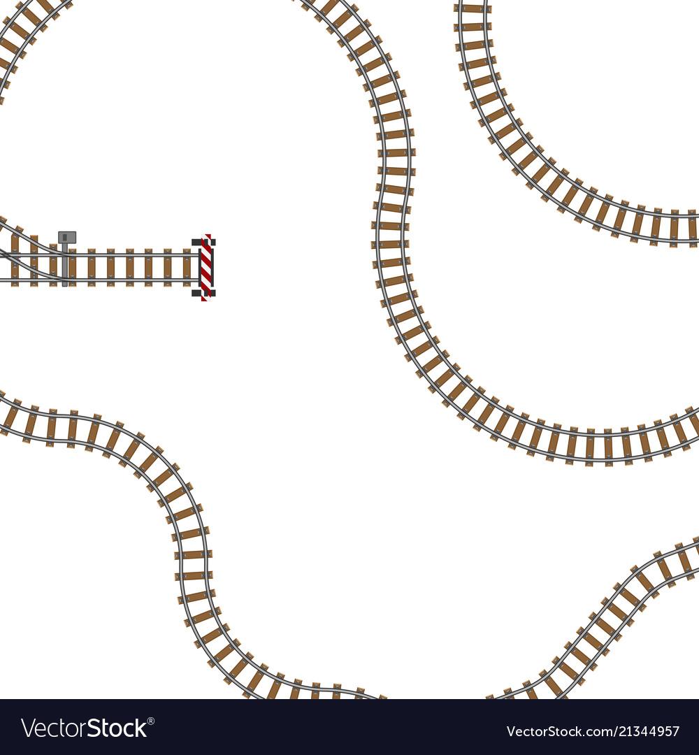 Railway parts grey rails