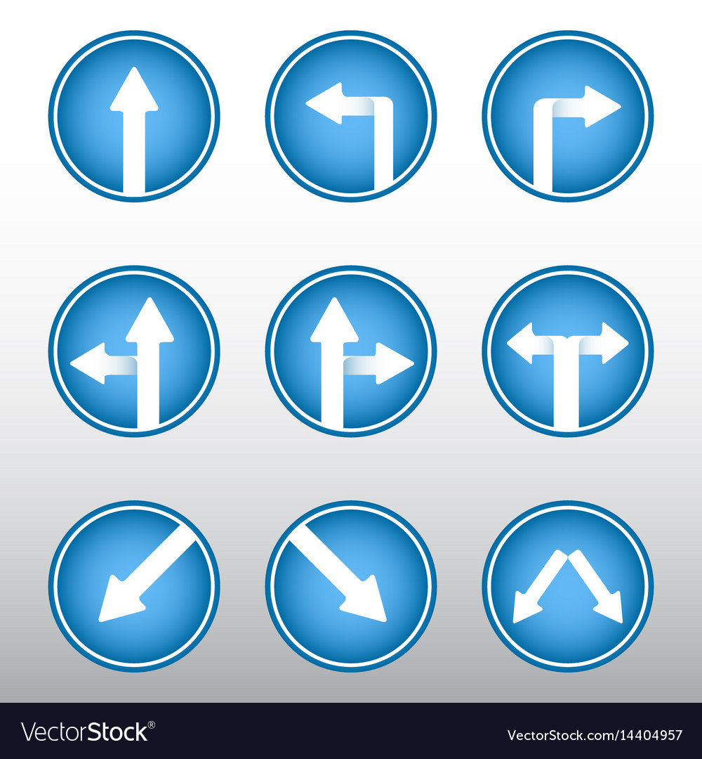 road sign arrows icons royalty free vector image