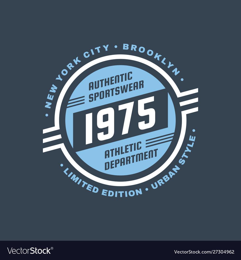 1975 athletic department - typography vintage logo