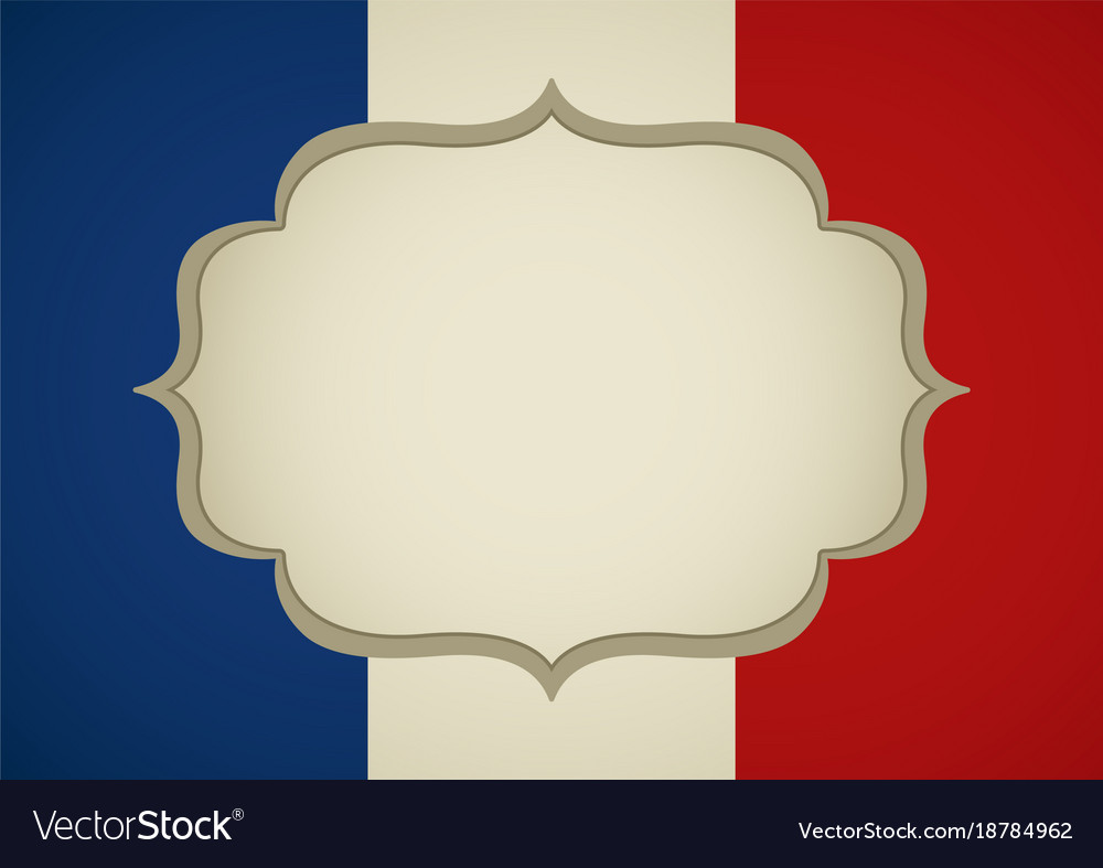 Blank frame on french insignia Royalty Free Vector Image
