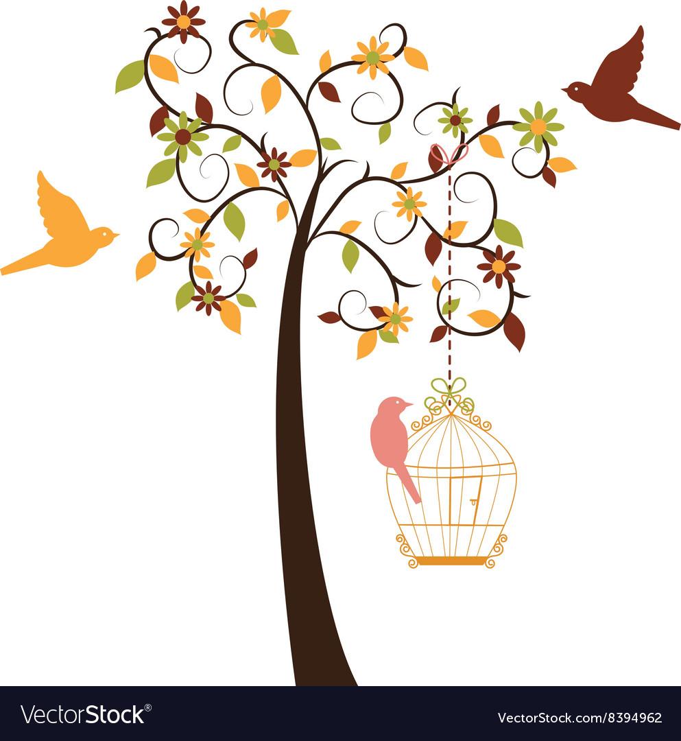 Love Tree and Birds set