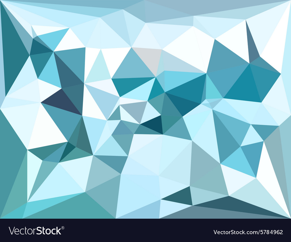 Low poly background Blue winter polygonal