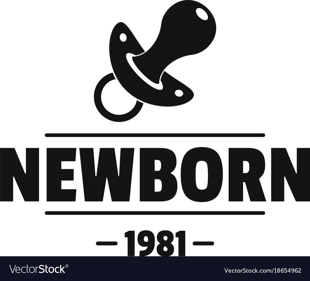 Newborn pacifier logo simple black style