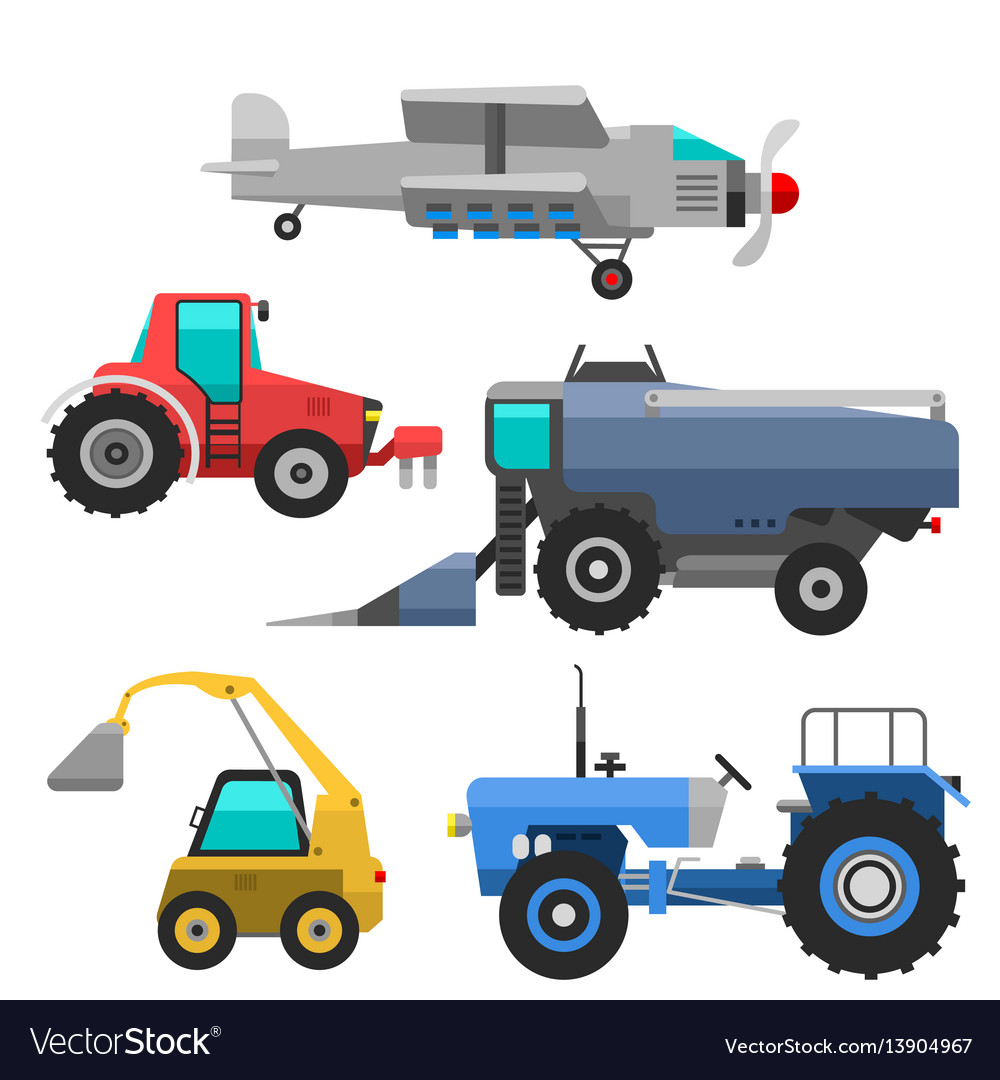 Agricultural vehicles and harvester machine