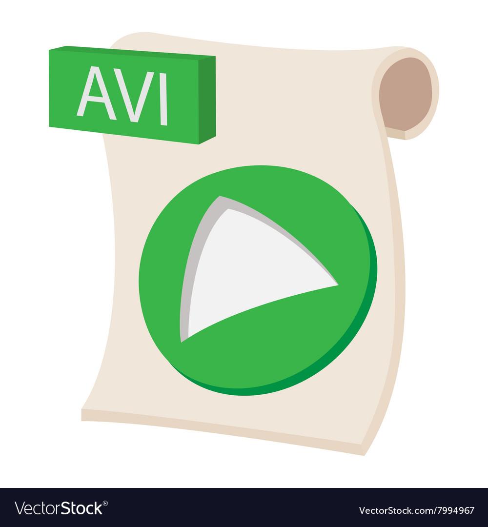 AVI icon cartoon style vector image