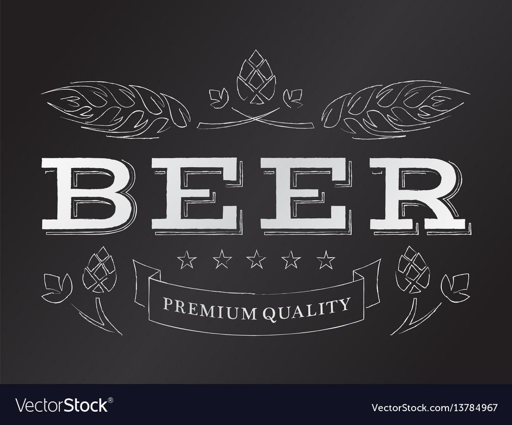 Chalk beer emblem