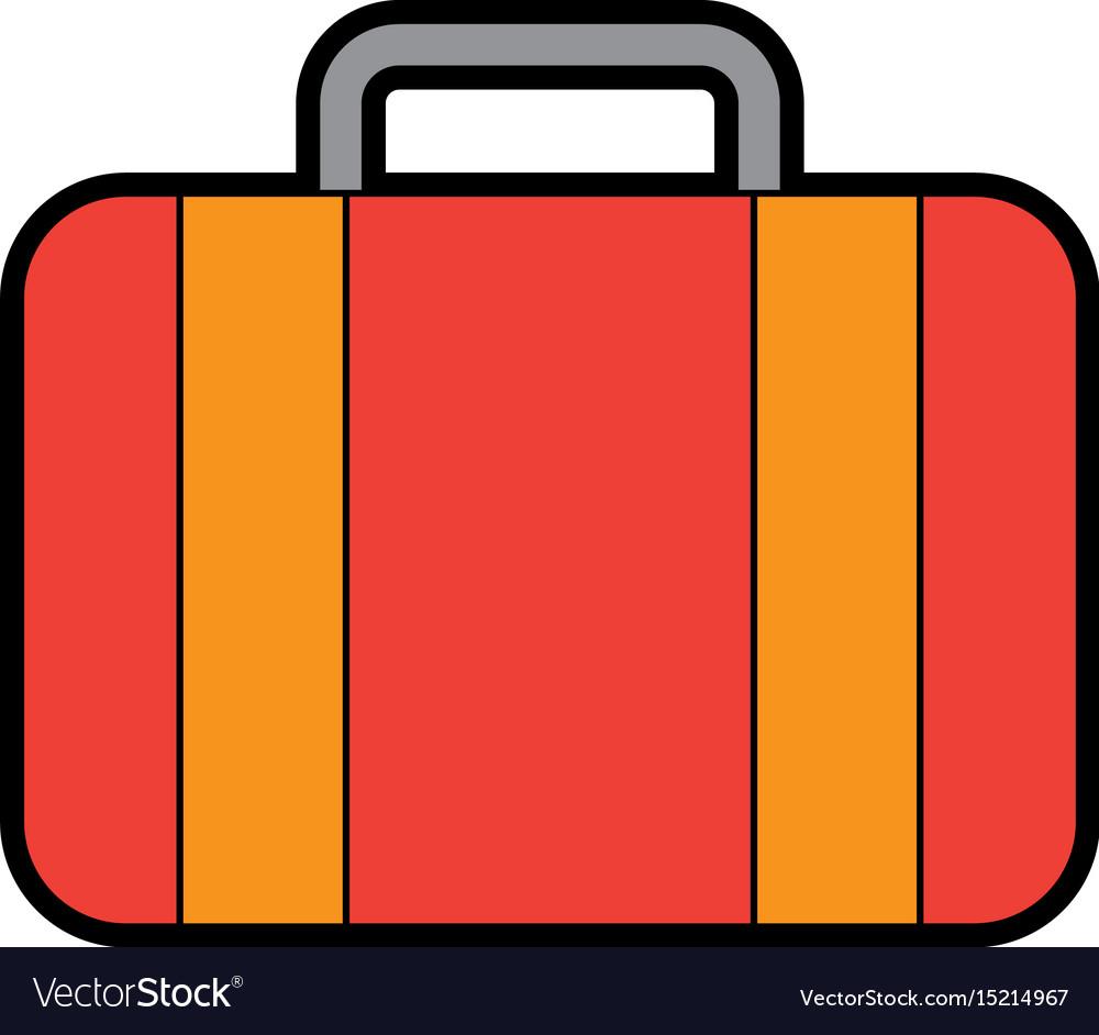 Color red suitcase cartoon
