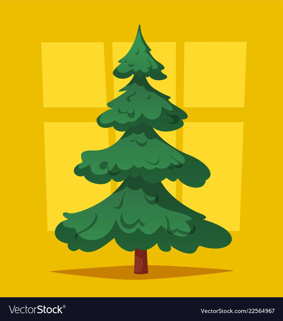 Empty Christmas Tree Cartoon Royalty Free Vector Image