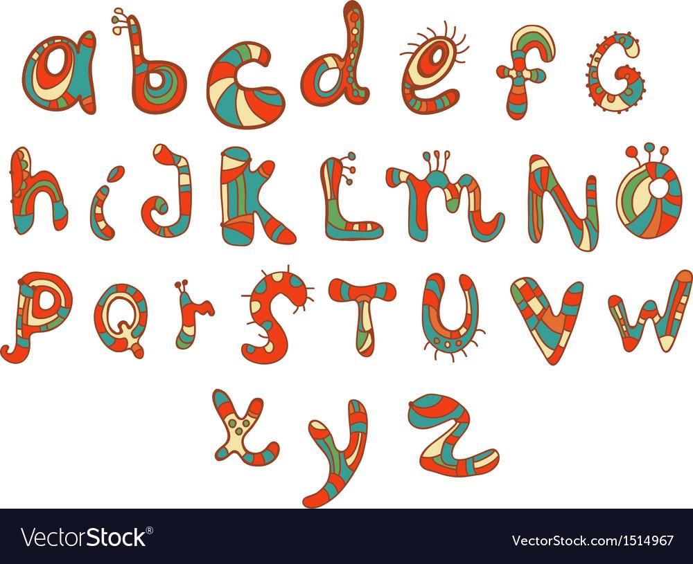 Funny color Alphabet