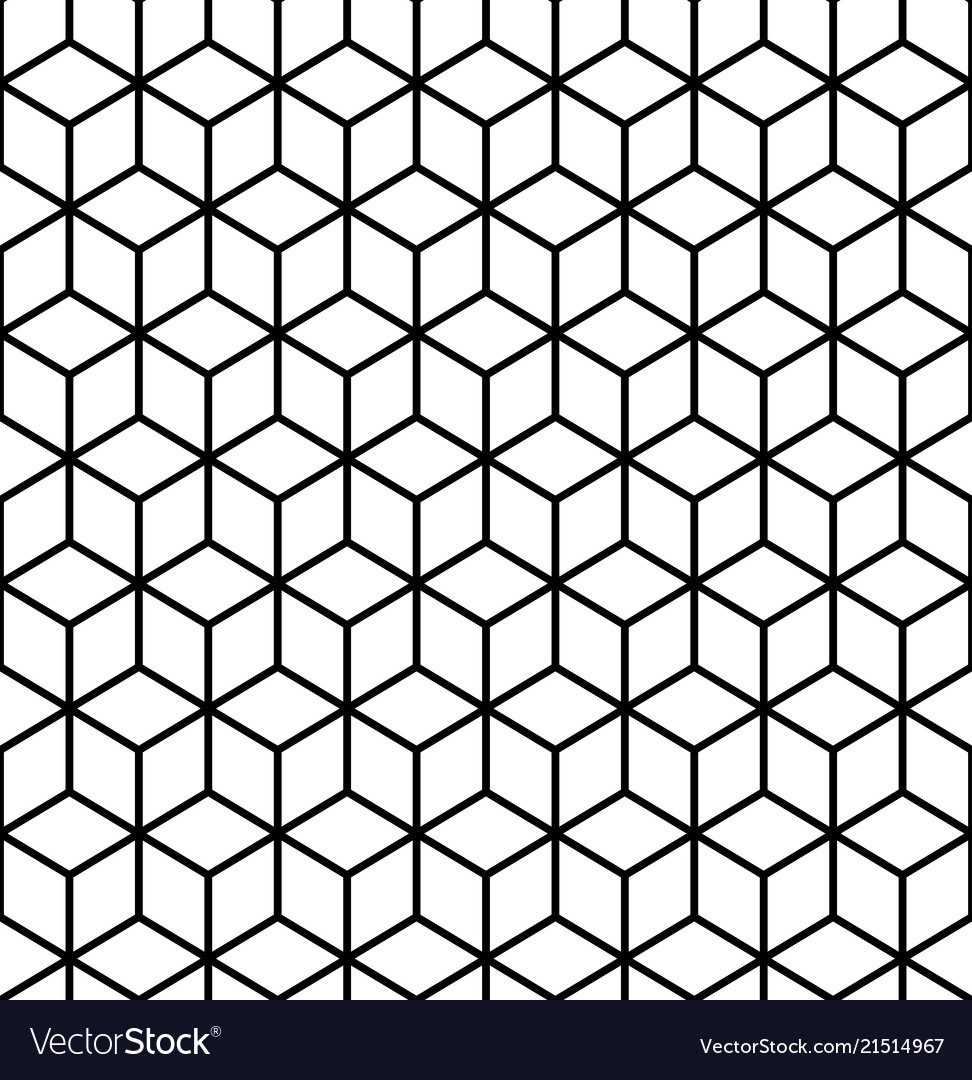 Geometric Pattern Cube Seamless Pattern Royalty Free Vector