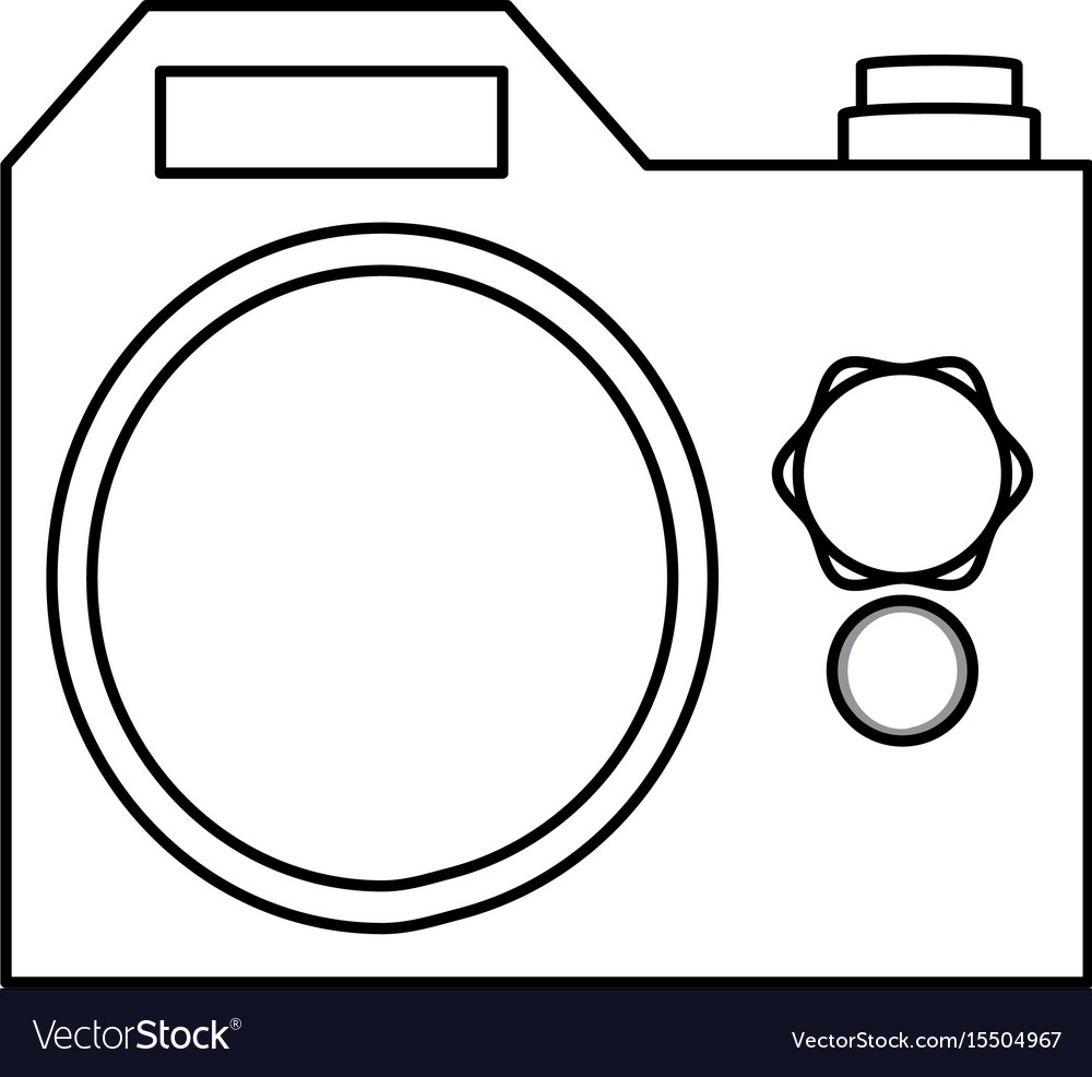 Isolated cute camera