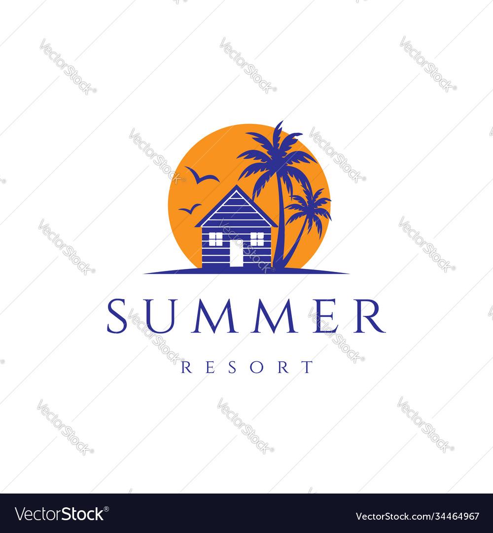 Sunset palm house cabin cottage resort hotel inn