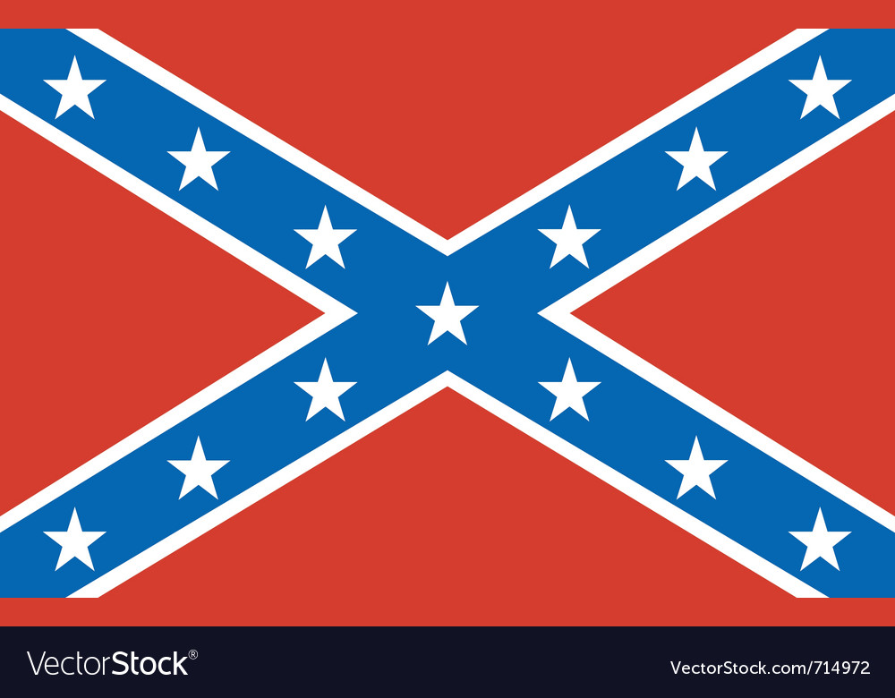 american confederate flag royalty free vector image