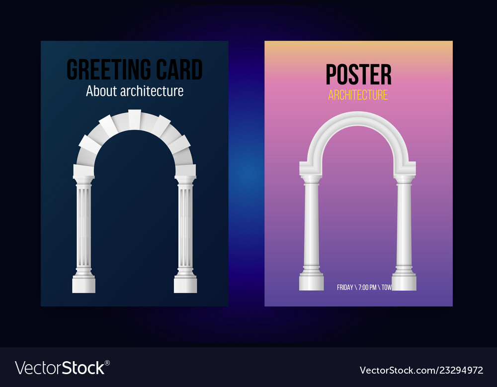 Arch posters a4 for ancient architecture