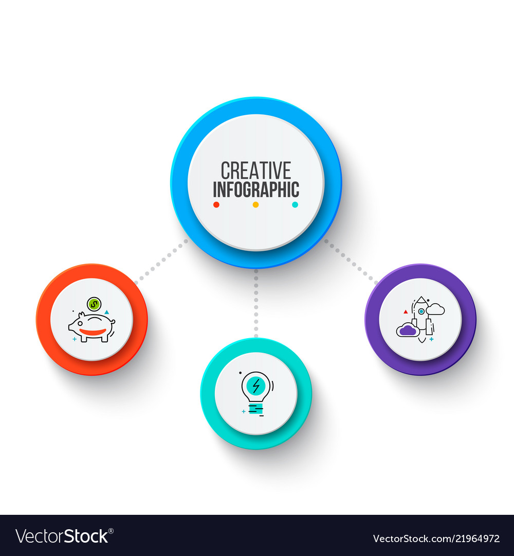 Circle business graphic elements business process